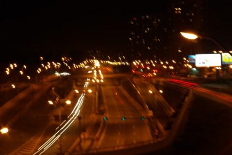 Autostrada DTŚ w okolicach tunelu