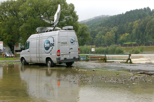 Powódź w Myślenicach. Wylały małę rzeki / flickr by Rrrodrigo <code><br /> <div xmlns:cc=