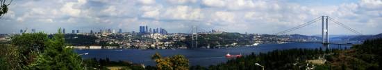 Panorama Bosforu, zlepek kilu zdjęć. Kliknij i powiększ