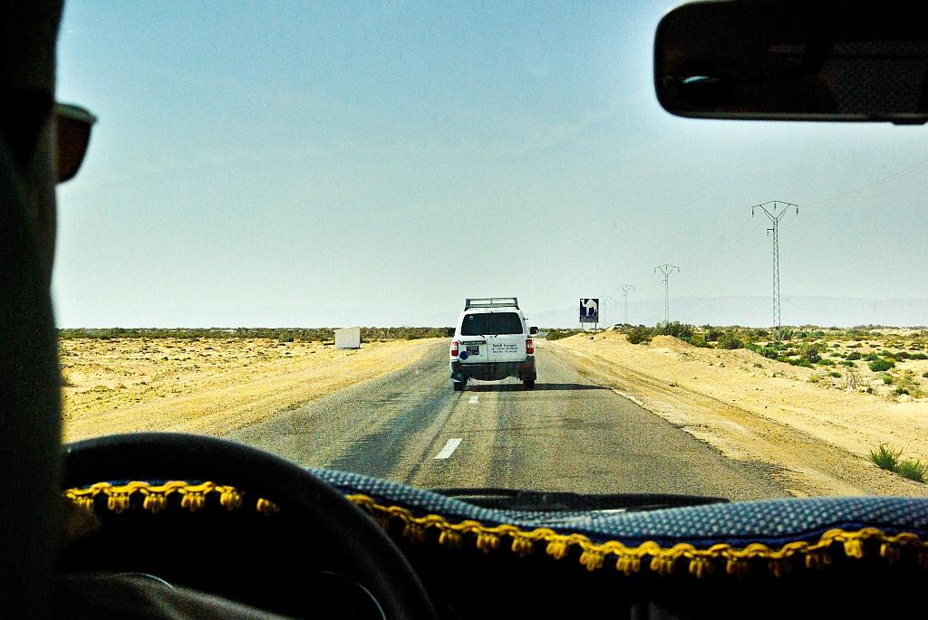 W drodze do Tozeuru - uwaga na wielbłądy!