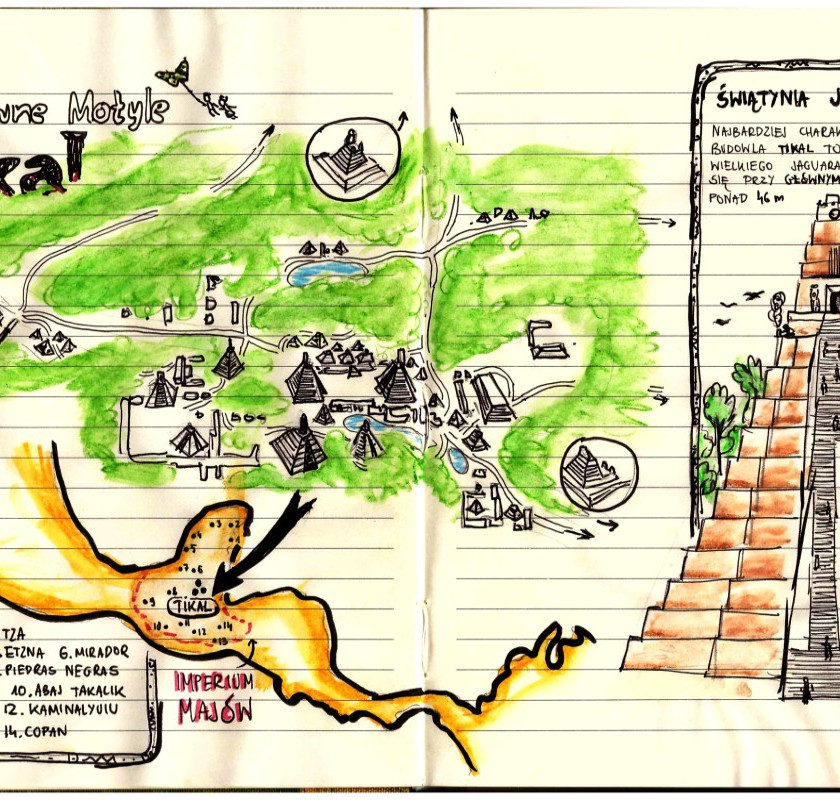 tikal gwatemala mapa